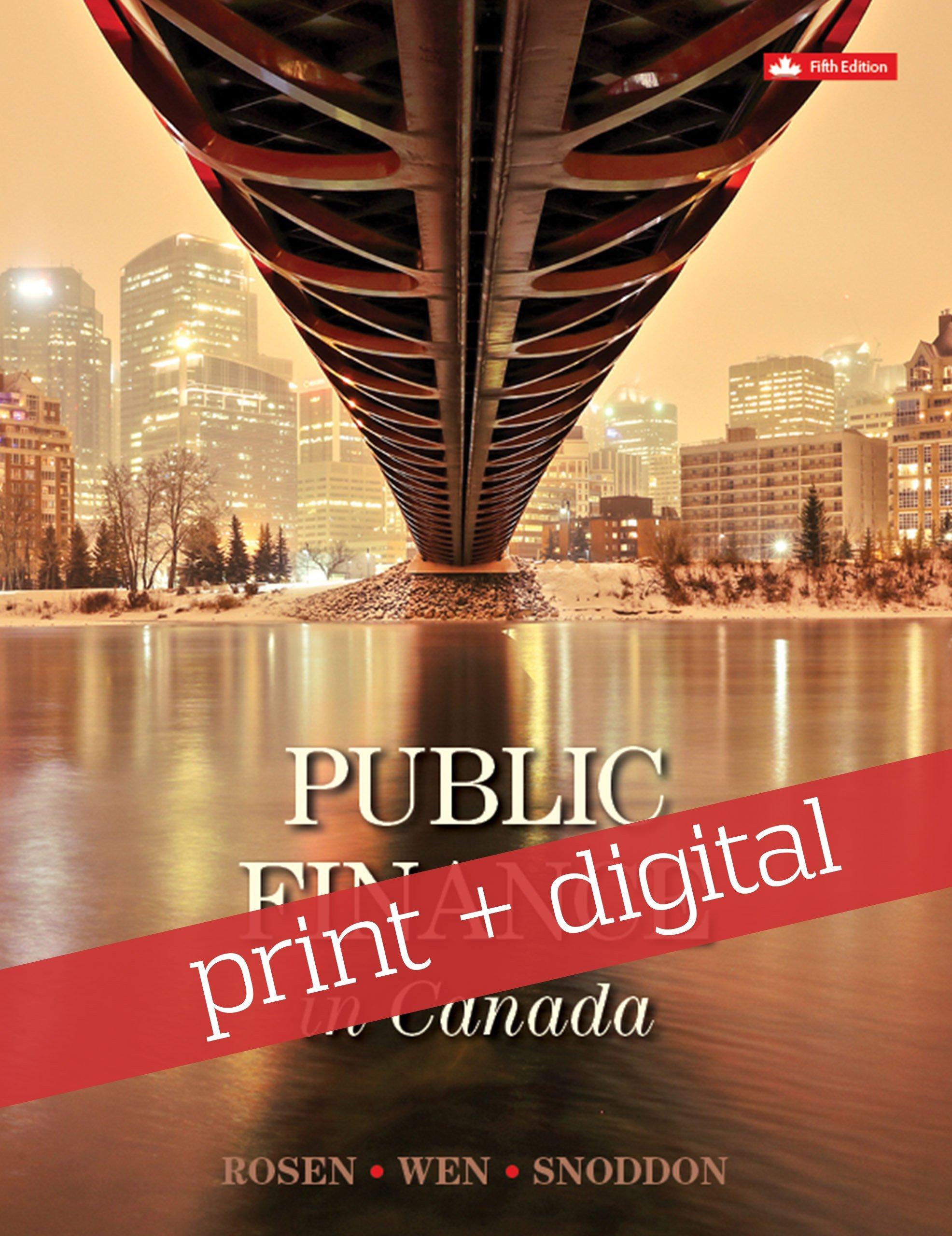 Public finance in canada: harvey s rosen, jean-francois wen.