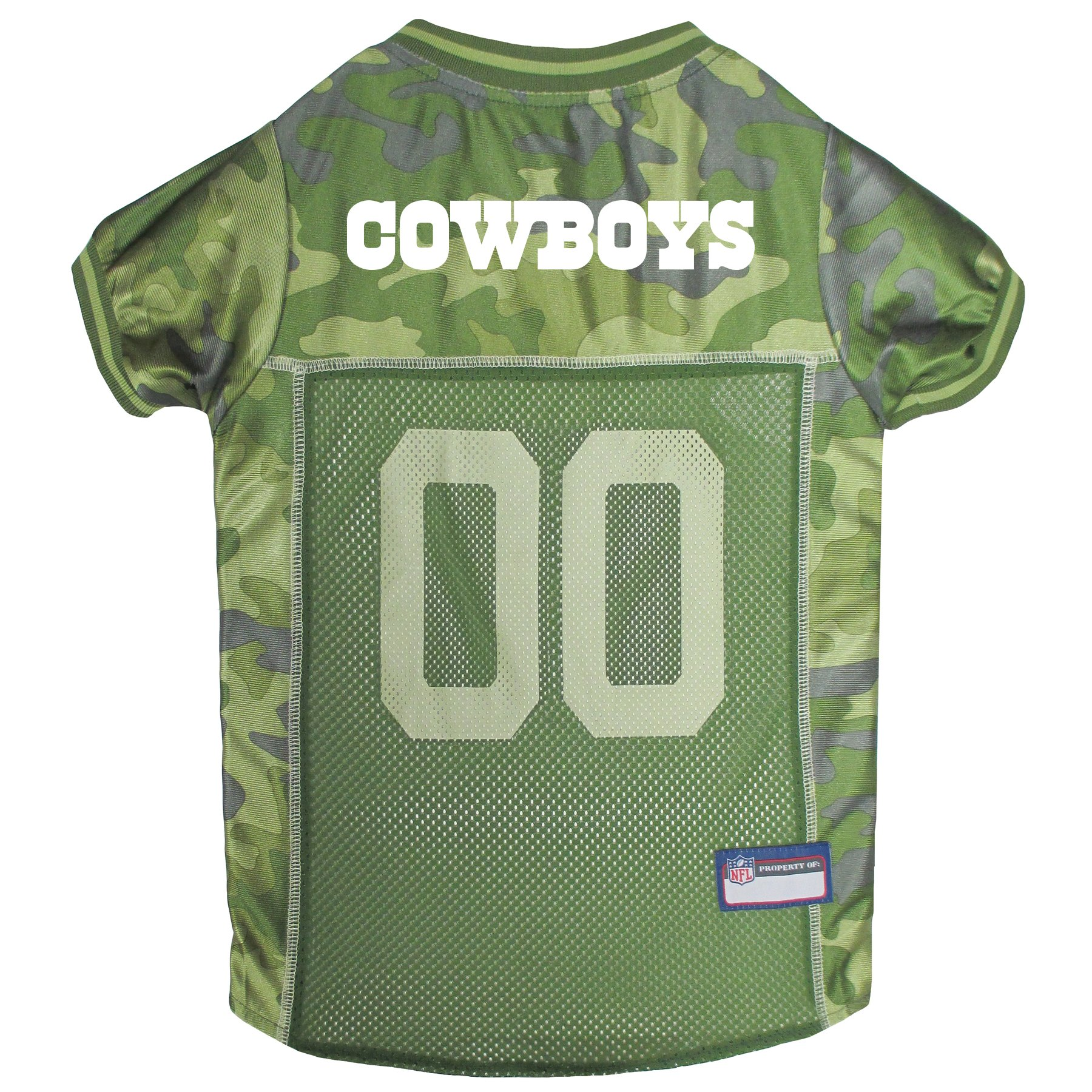 Pets First NFL DALLAS COWBOYS CAMOUFLAGE DOG JERSEY, Medium. - CAMO PET Jersey available in 5 sizes & 32 NFL TEAMS. Hunting Dog Shirt