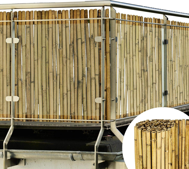 Amazon De Sol Royal Sichtschutz Bambus Zaun Massiv 90x250cm Hxb