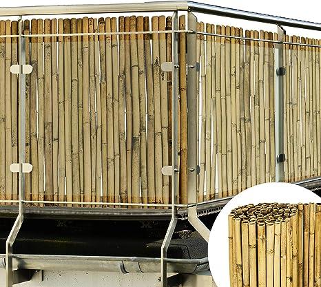 Sol Royal Valla de bambú Protectora SolVision B38 90 x 250 cm (A x L) Estera de privacidad Visual y Viento Natural Balcones terrazas Jardines barandas Cerca con cañas Gruesas: Amazon.es: Hogar