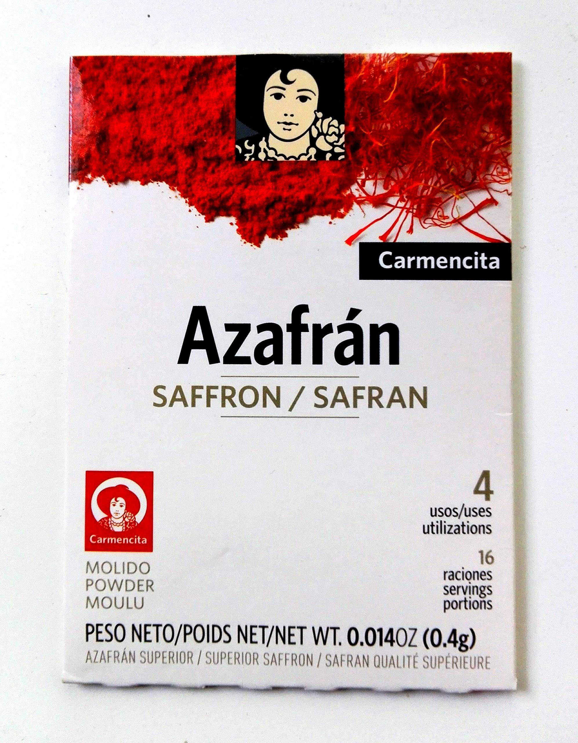 Carmencita Spanish Azafran Ground Saffron 400mg Packet