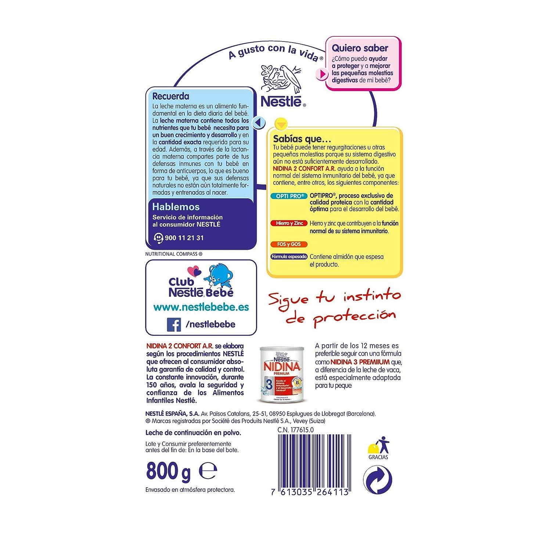 Nidina 2 Premium Confort Digest Leche de Continuación en Polvo - 800 gr: Amazon.es: Amazon Pantry
