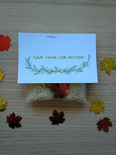 Bolsas de arroz y confeti modelo Canadá para bodas (Pack de ...