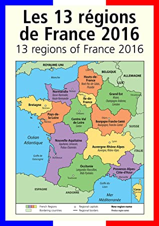 Map Of Regions Of France.A3 French Poster Map Teaching Aid Classroom Resources The New 13