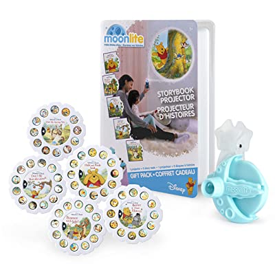 Moonlite, Winnie The Pooh Gift Pack with Storybook Projector for Smartphones & 5 Story Reels: Toys & Games