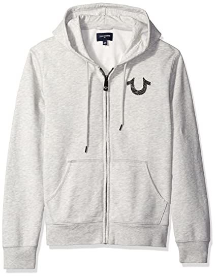 Amazon True Religion Mens Shoestring Horseshoe Hoodie Grey