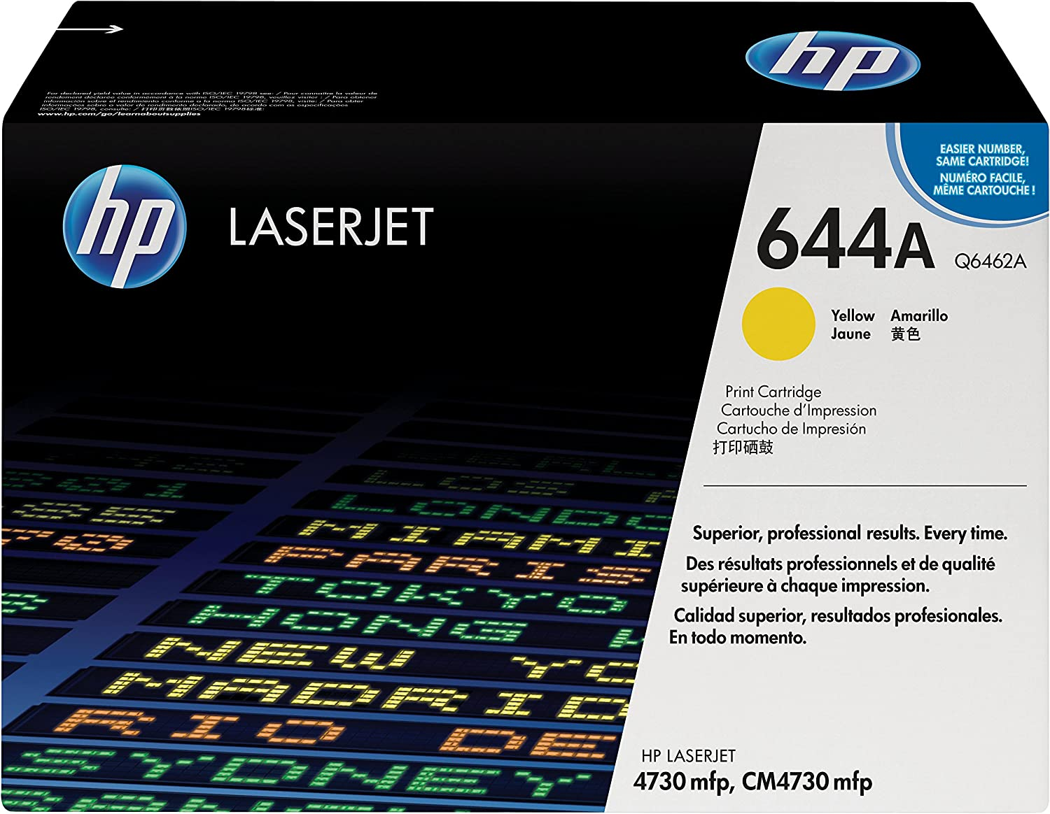 HP 644A | Q6462A | Toner Cartridge | Yellow | DISCONTINUED BY MANUFACTURER