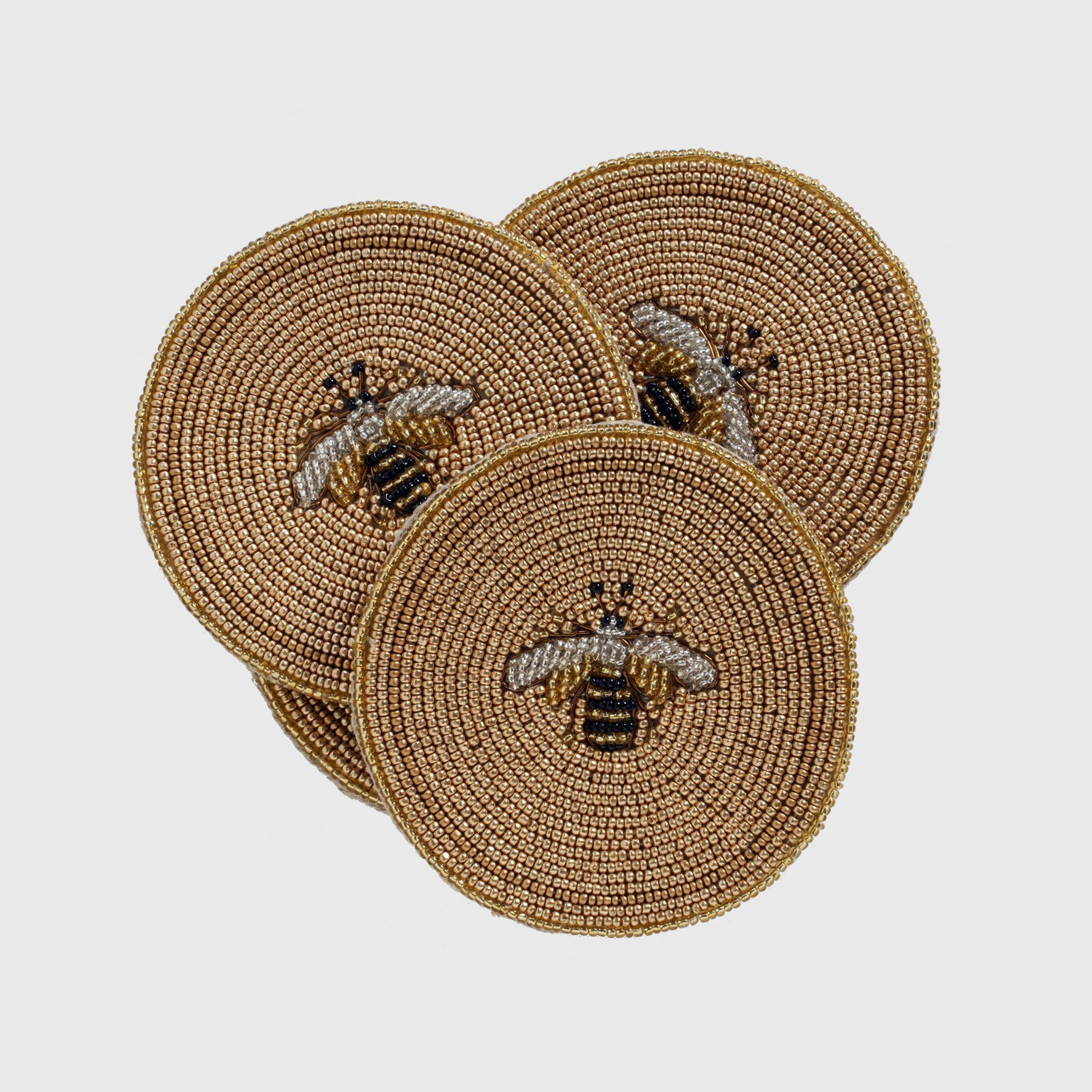 Joanna Buchanan Stripey Bee Coasters, Set of 4