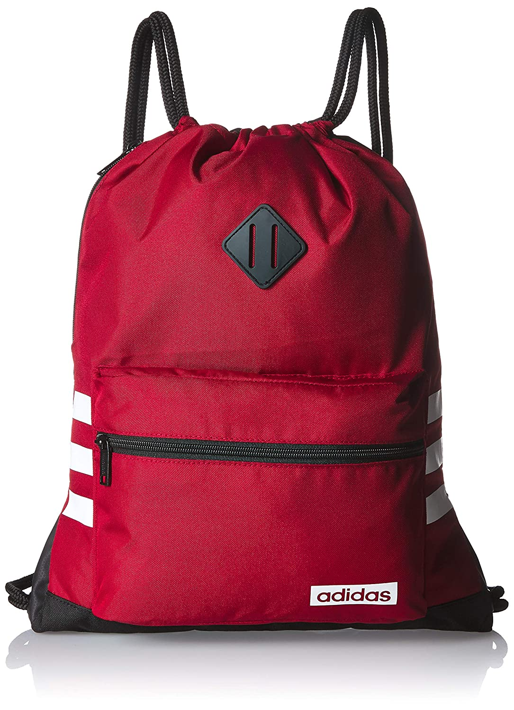 e3ddbf083e10c3 Amazon.com: adidas Classic 3s Sackpack, Active Maroon/Black/White, One  Size: Clothing