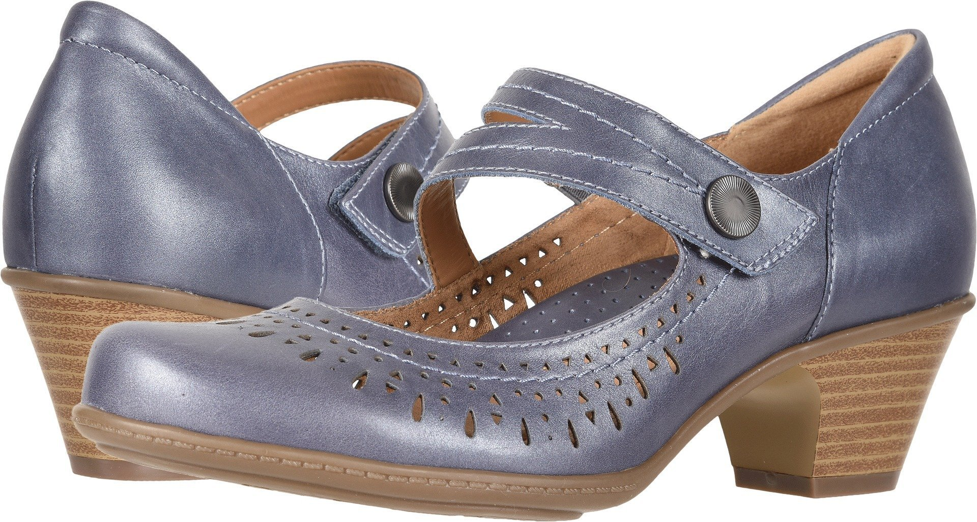 Earth Women's Dione Navy Pearlized Metallic Leather 8 B US