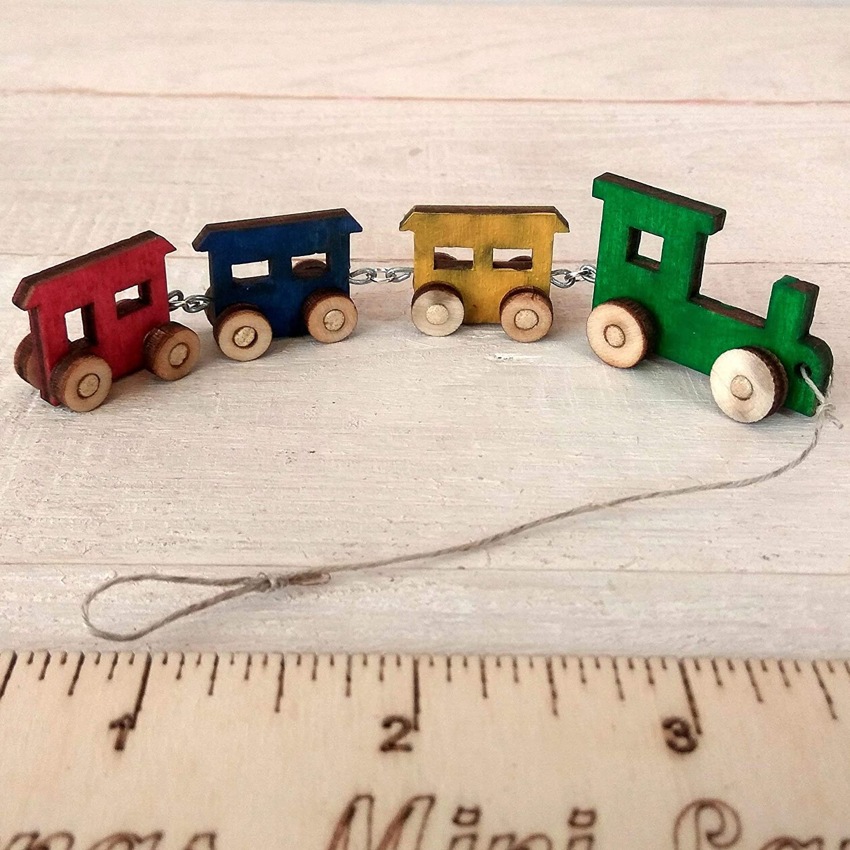 Lati Yellow Pukifee LittleFee BJD 1:8 scale miniature nursery wooden ride car truck Dollhouse toy train