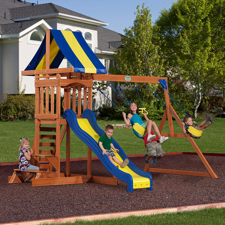 amazon com backyard discovery providence all cedar wood playset