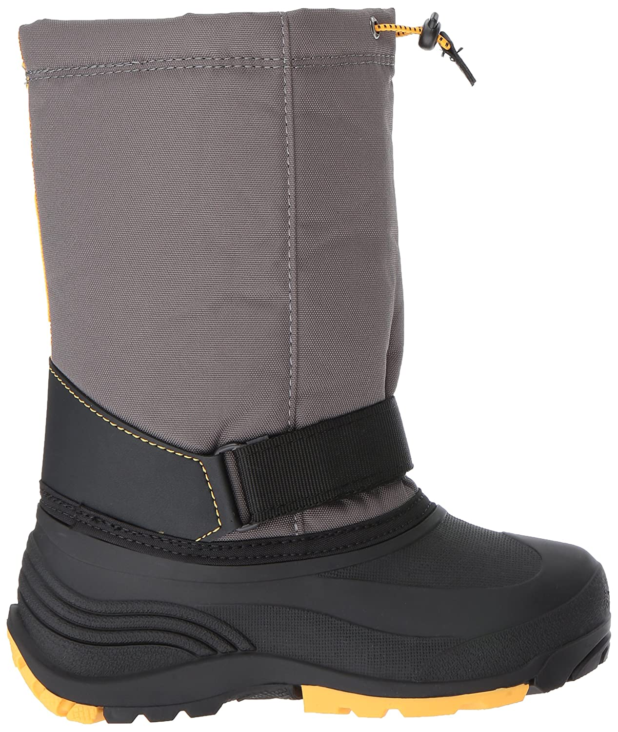 Kamik Boys' Rocket Snow Stiefel, Charcoal Medium Gelb, 5 Medium Charcoal US Big Kid d11a8c