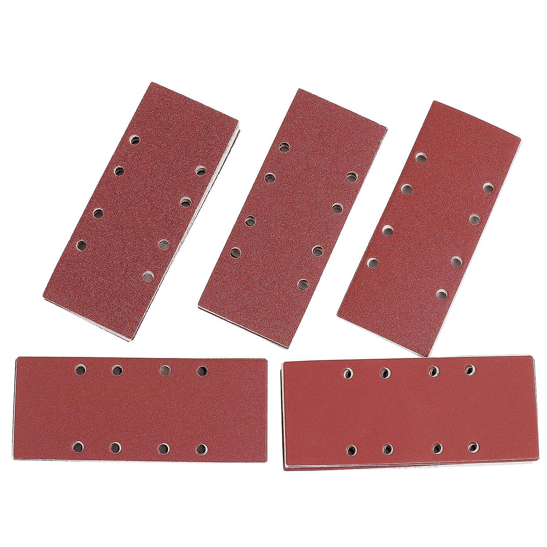 35 Hojas S/&R Papel de Lija con Velcro 10 x P120 5 x P40 5 x P60 10 x P240 5 x P80