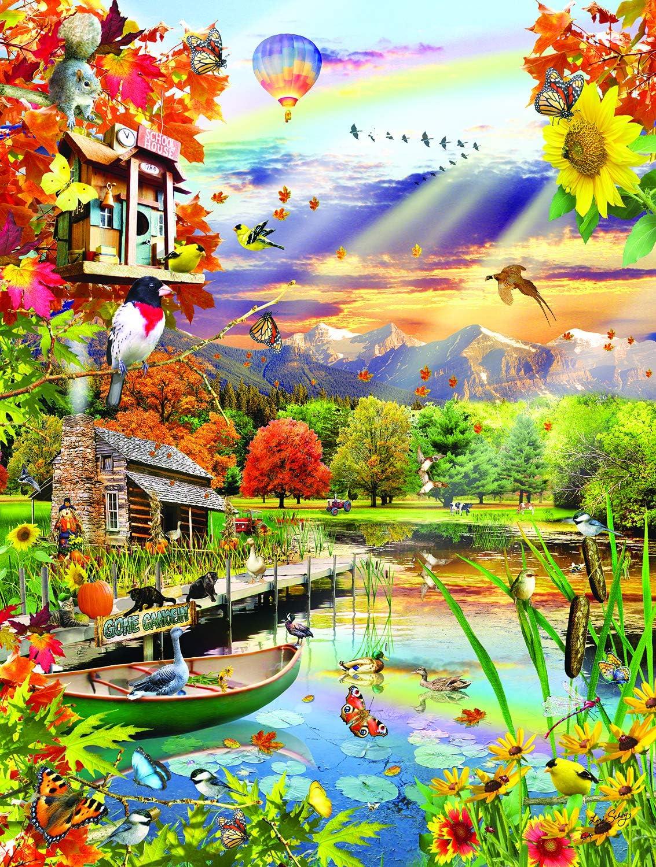 Autumn Lake 500 pc Jigsaw Puzzle by SUNSOUT INC