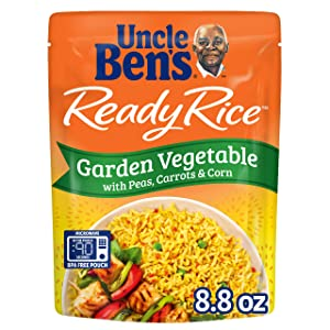 UNCLE BEN'S Ready Rice: Garden Vegetable Rice , Ready to Heat 8.8 Oz Pouches, Pack of 6
