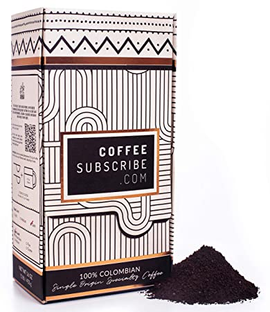 Gourmet Roasted Coffee Grounds - 100% Colombian Single Origin Specialty Coffee, Grounded,...