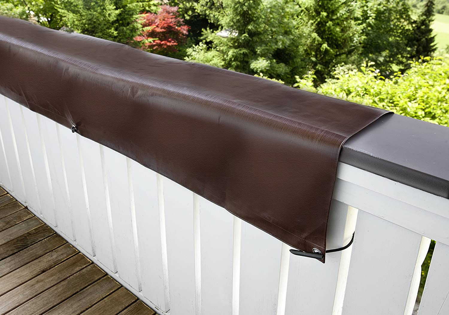 Windhager tarpaulin balcony cover 0 8 x 5 m 210 g m2 brown