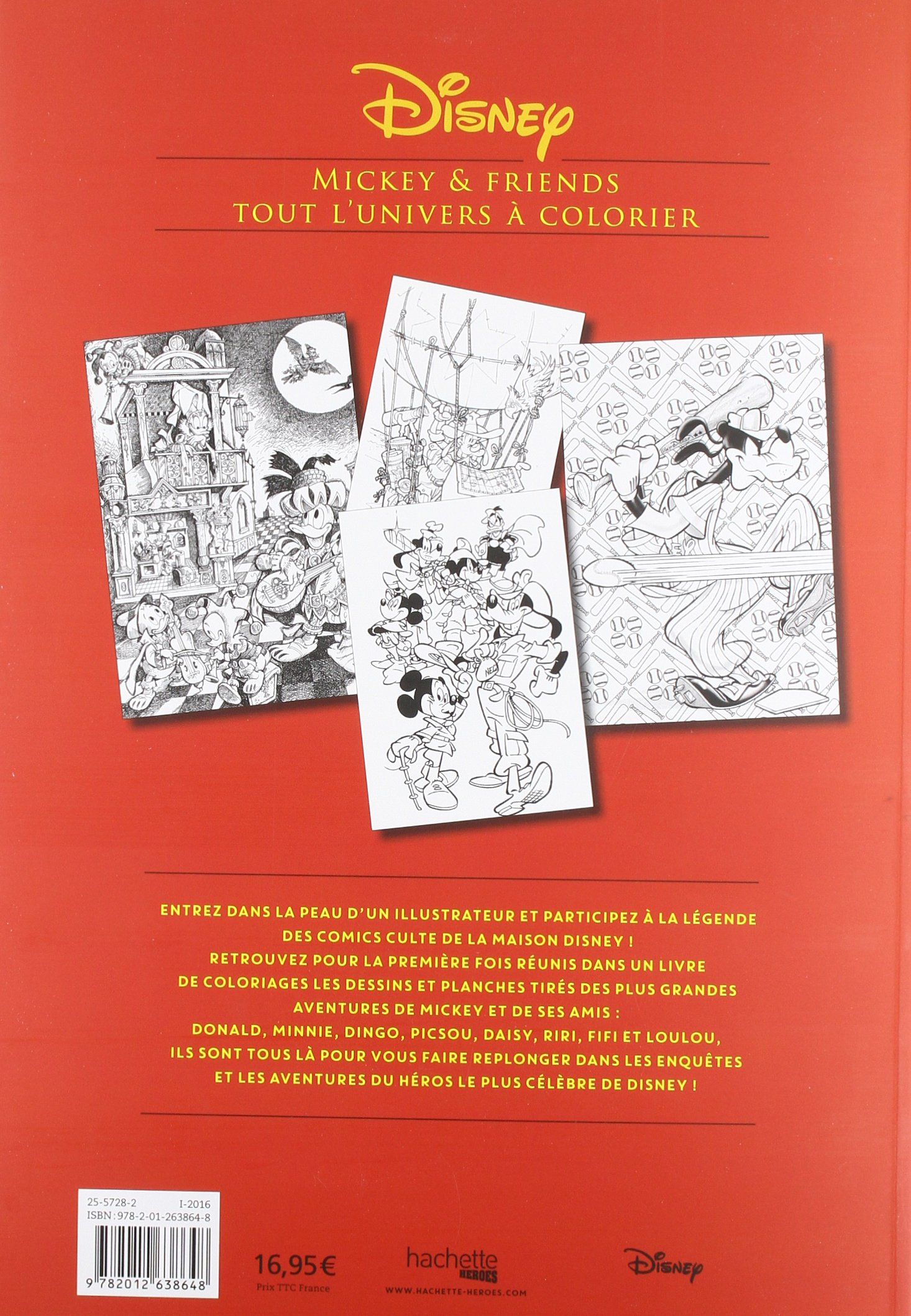 Mickey and Friends - Tout l\'univers a colorier - [ The Art of Mickey ...