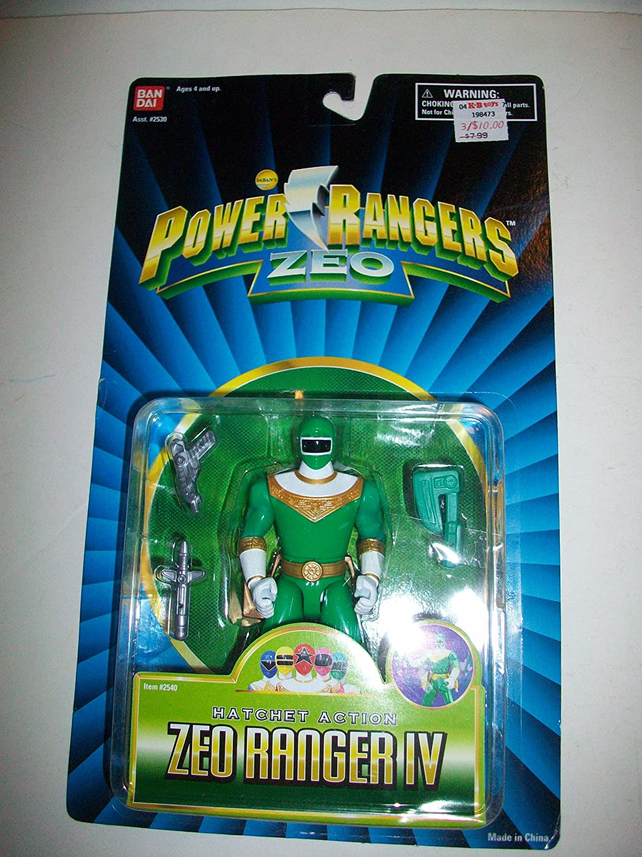 Power Rangers Zeo 1996 Green IV Ranger MOSC MOC 14cm Figure