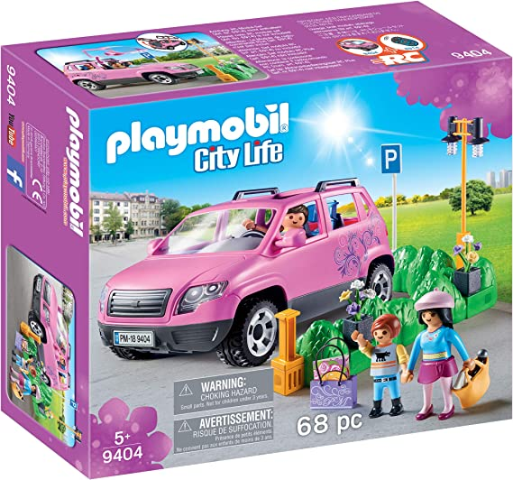 PLAYMOBIL City Life Coche Familiar con Parking, A partir de 5 años ...