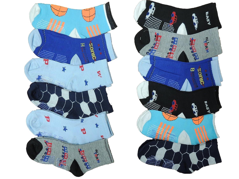 10 Paar Jungen ABS Socken Größe 24-39 Anti rutsch Noppen