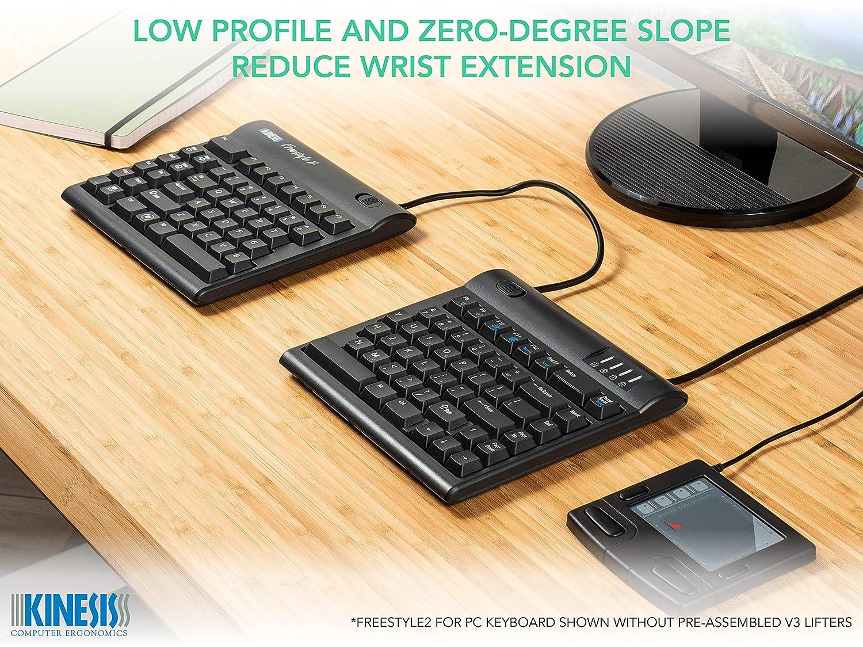 Kinesis Freestyle2 teclado ergonómico w/VIP3 - Levantador para PC (9