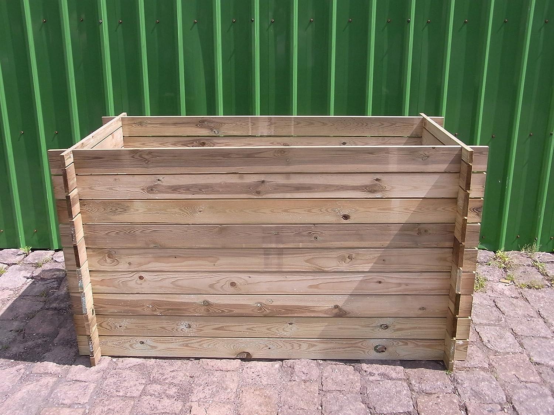 stabiler Holzkomposter Komposter Kompostbehälter Hochbeet 170 x 85 x 94 cm