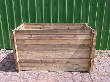 Estable madera Kom Póster compostador Compost Contenedor Bancal 170 x 85 x 94 cm