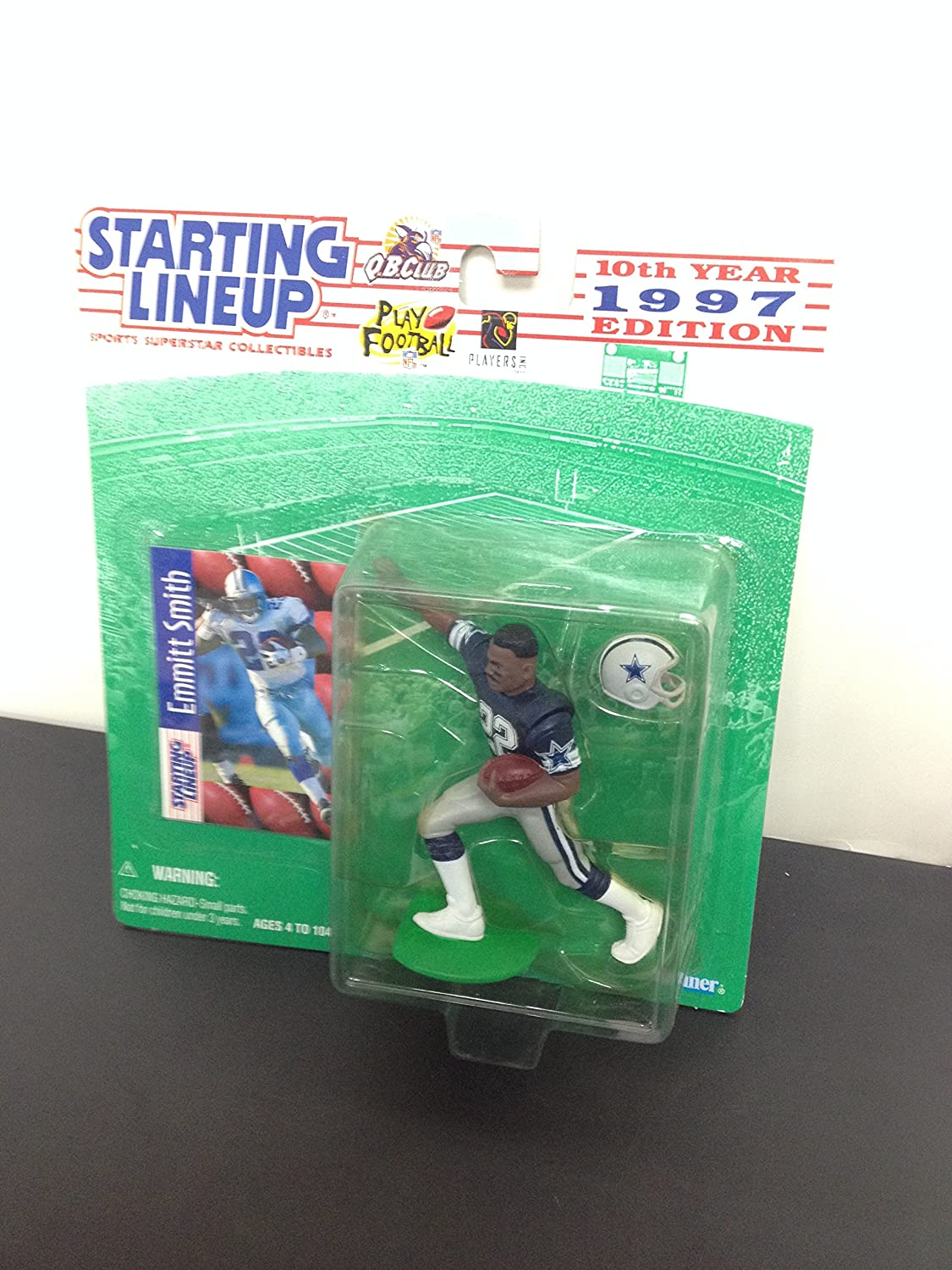1997 Emmitt Smith Dallas Cowboys Running Back Action Figure With Collectible Trading Card