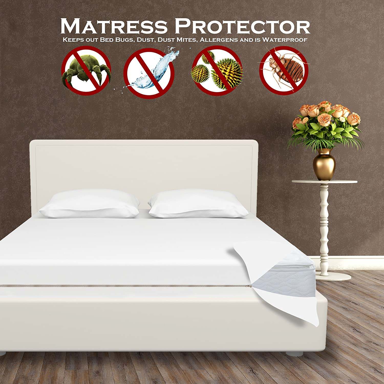 Amazon Mattress Encasement Mattress Protector for Bed Bugs