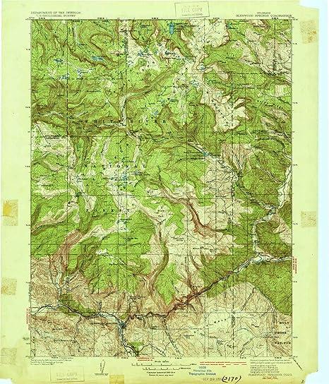 Amazon.com : YellowMaps Glenwood Springs CO topo map, 1:125000 Scale ...