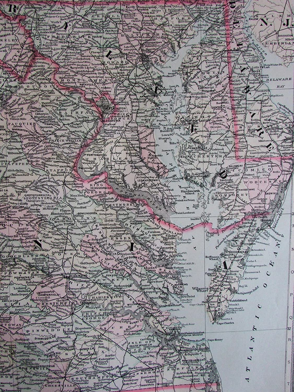 Amazon.com: Maryland Virginias Delaware 1889 Bradley large ...