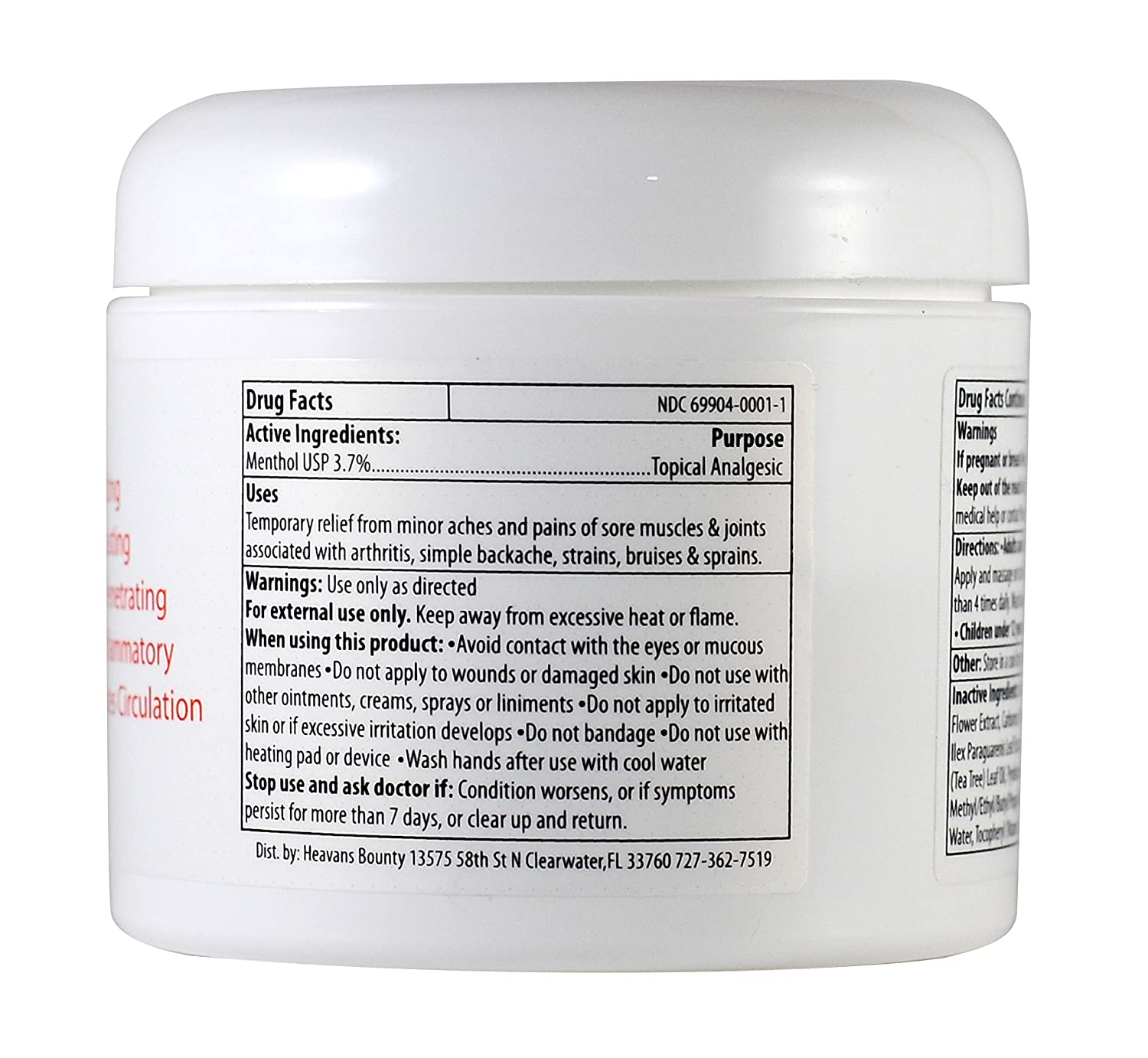 Amazon.com: STAT Pain Relief Cream - [3 Oz] USA Made with Arnica, Menthol, MSM, Aloe, Tea Tree Oil and Ilex - Cools Inflammation, Relaxes Sore Muscles and ...