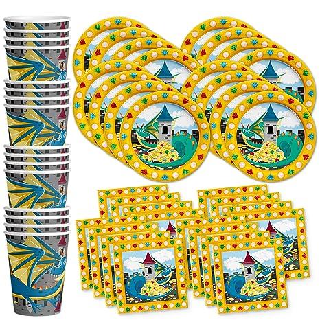 Amazon Com Mythical Dragon Birthday Party Supplies Set Plates