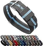 Barton Reloj Bandas–Elección de Colores & anchos (18mm, 20mm o 22mm)–Ballistic Nylon, Acero inoxidable
