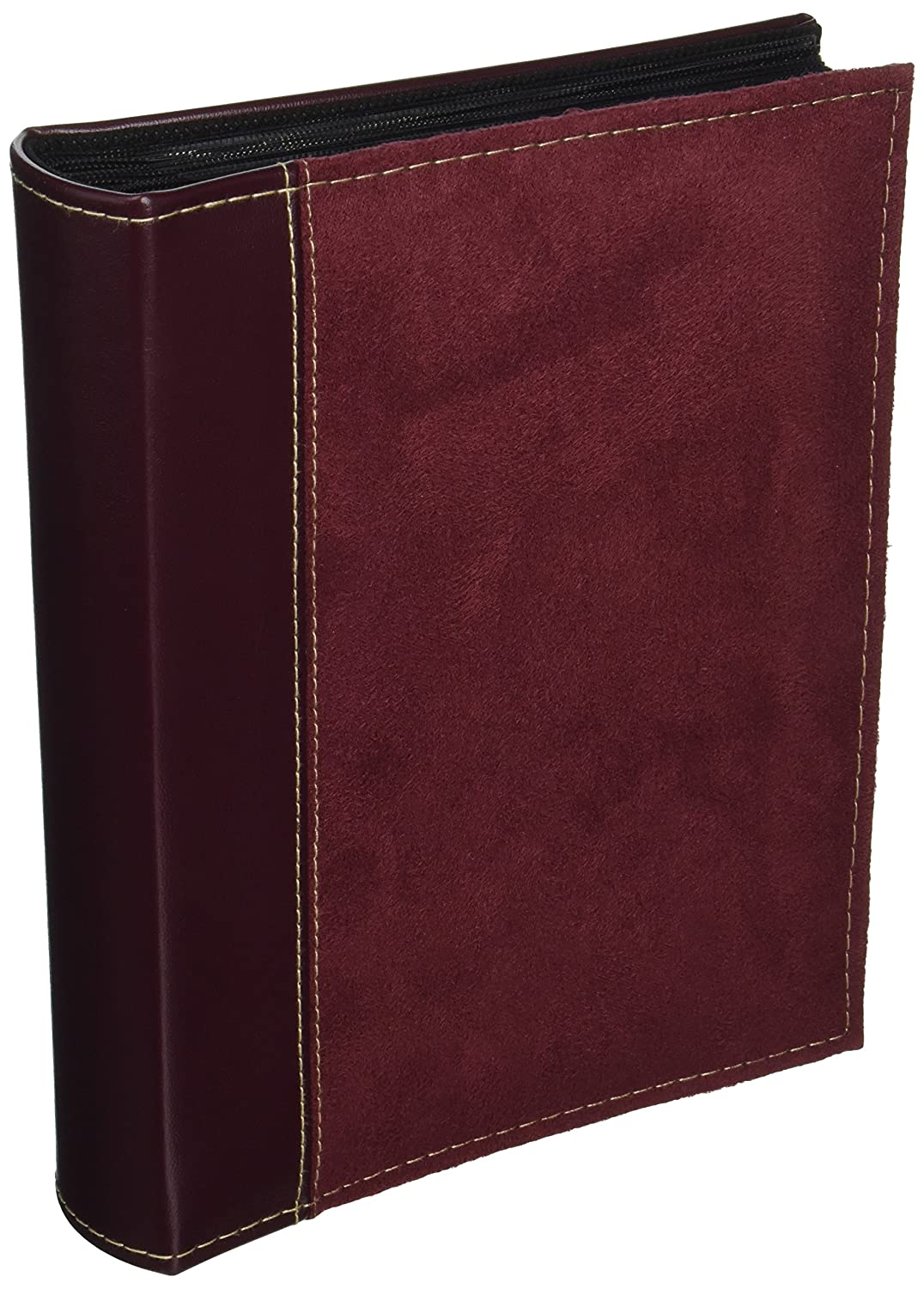 Pioneer Photo Albums 208 Pocket Sewn Faux Suede and Leatherette Cover Album for 4 by 6-Inch Prints, Burgundy SU-246/BG