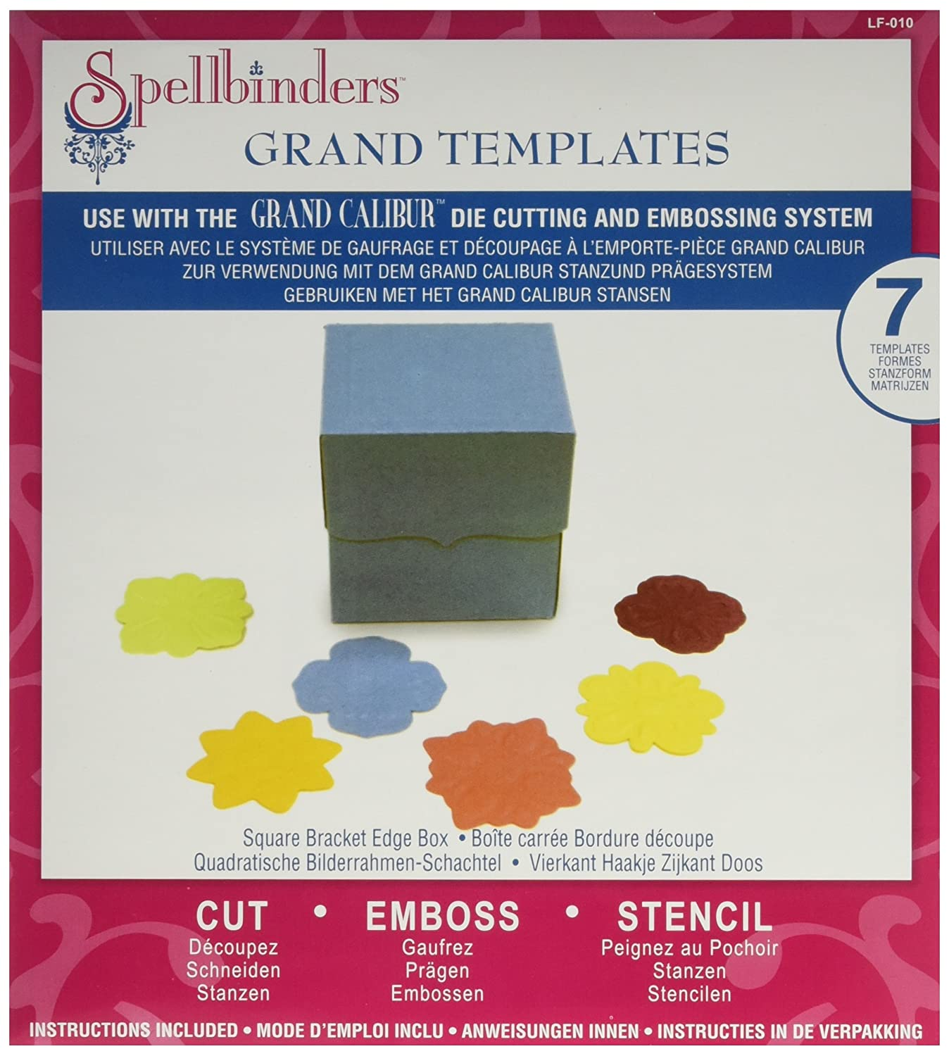 Amazon.com: Spellbinders Square Bracket Edge Box