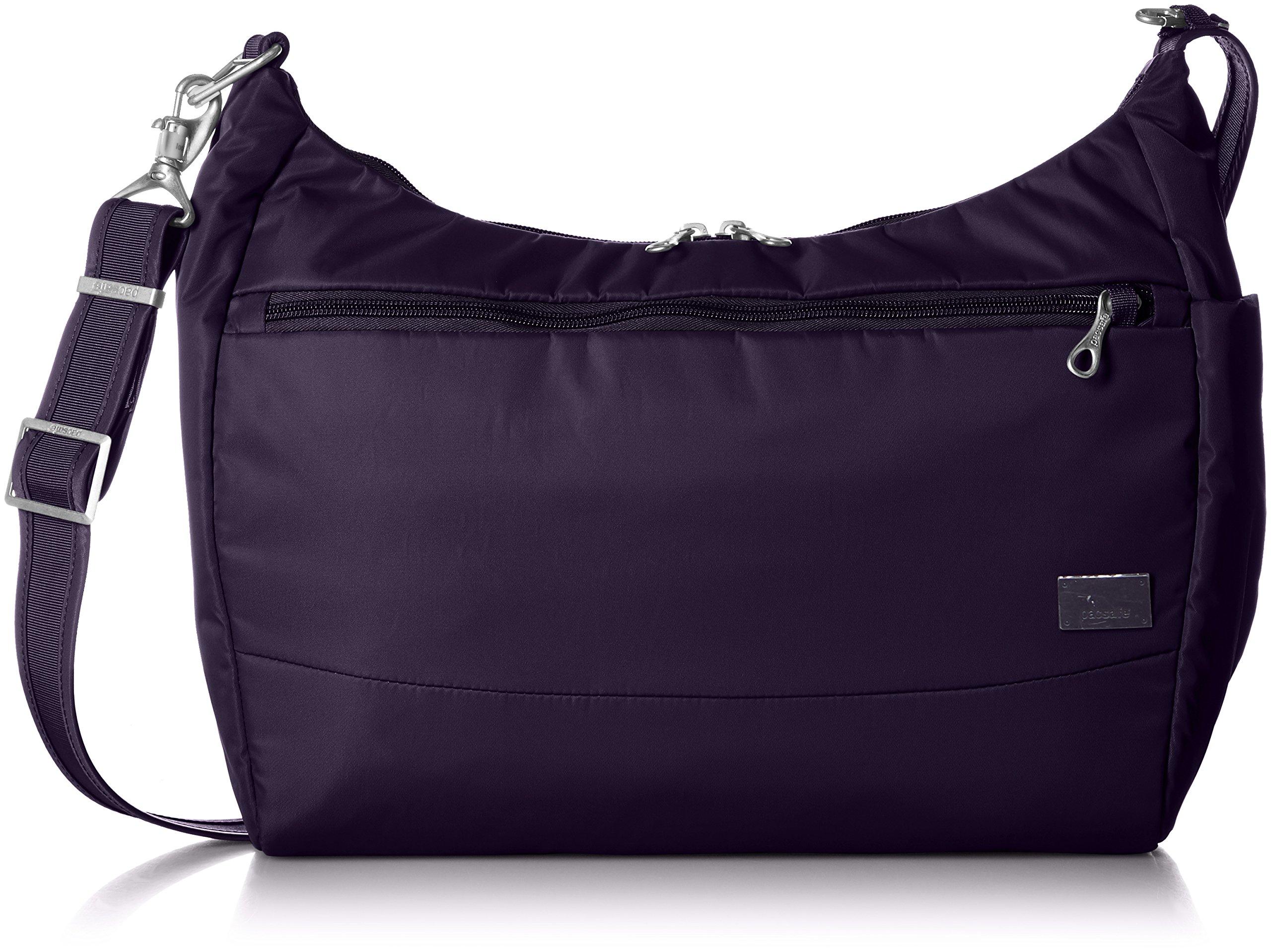 PacSafe Women's Citysafe Cs200 Anti-Theft Handbag Travel Cross-Body Bag, Mulberry, One Size