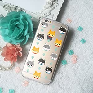 Shiba Dog Puppy pattern Clear TPU Phone Case for iPhone 4 5 SE 6 6S Plus Galaxy S4 S5 S6 S7 edge Note 7 HTC One LG Xperia Nexus 5X 6P