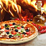 Pizza Stone for Best Crispy Crust Pizza, The Only Stoneware with Thermarite (Engineered Tuff Cordierite). Durable…