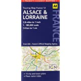 AA Road Map Alsace Lorraine AA Touring Map France 12 Road Map