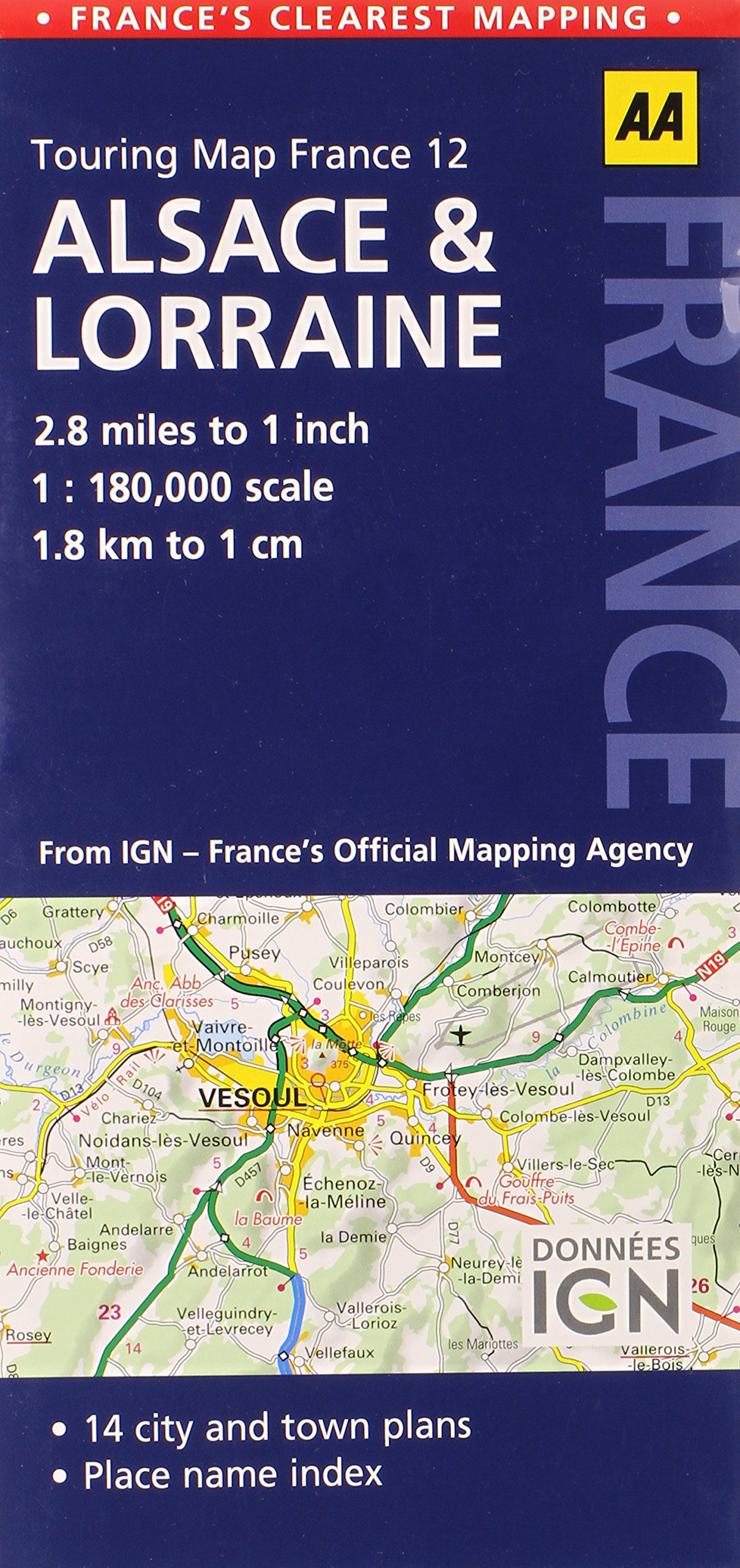 Road Map Alsace Lorraine Road Map France AA Publishing