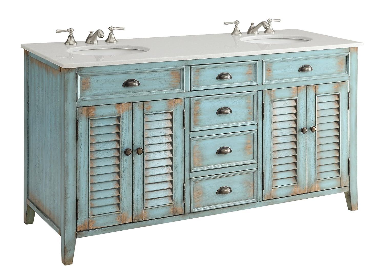 60 in double sink vanity. 60  Cottage look Abbeville Bathroom Double Sink Vanity CF88323 60BU Sofas Amazon com