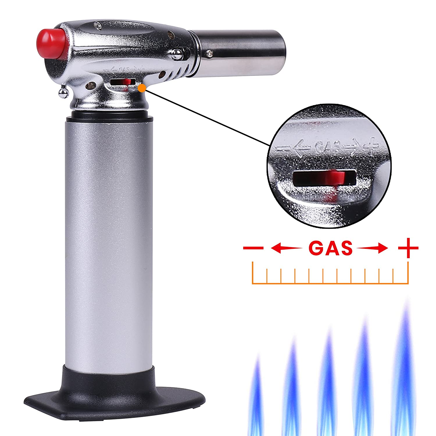 Top Torch | Culinary Butane Food Torch | Refillable, Pull Down