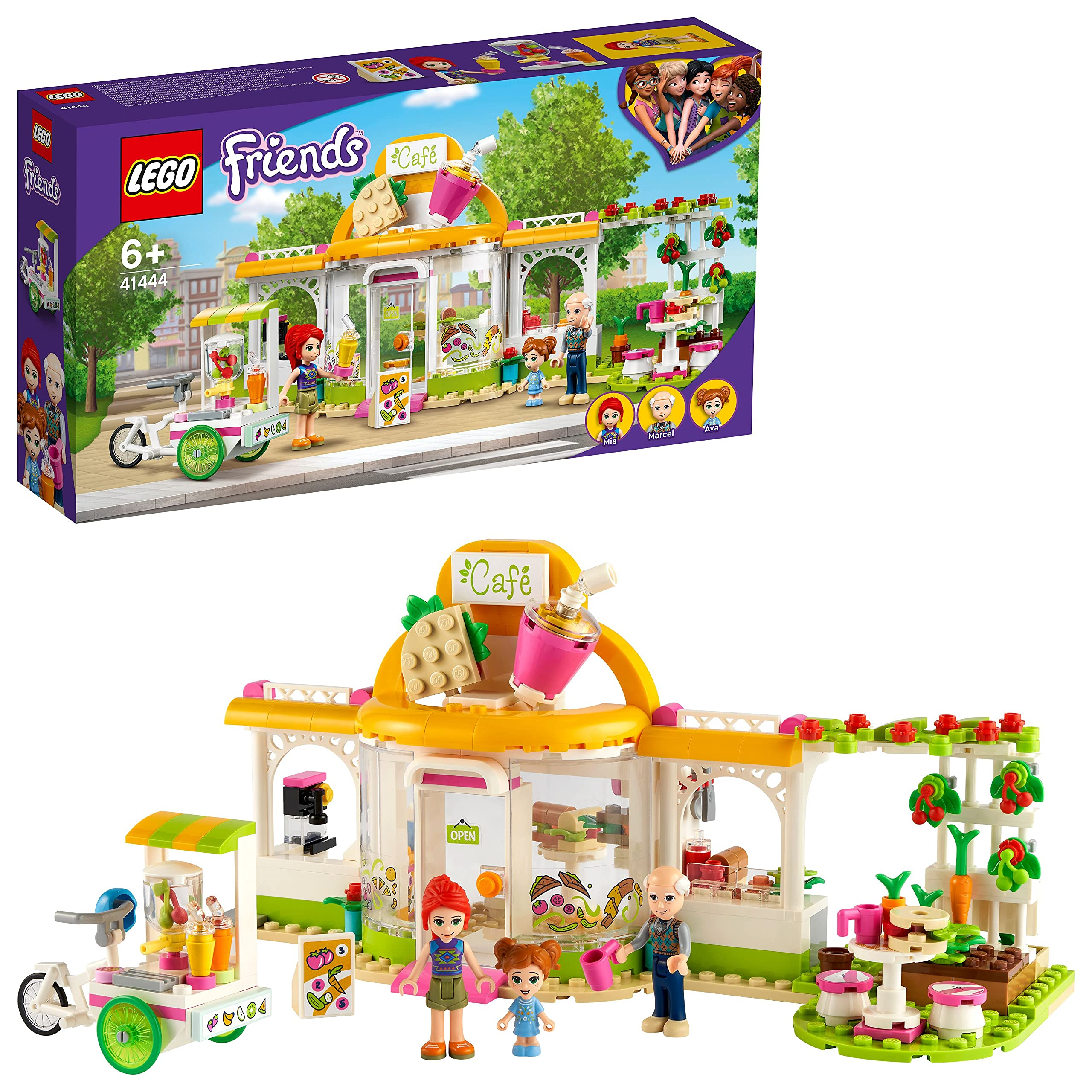 LEGO41444FriendsHeartlakeCityOrganicCaféPlayset,EcoEducationforKids6+
