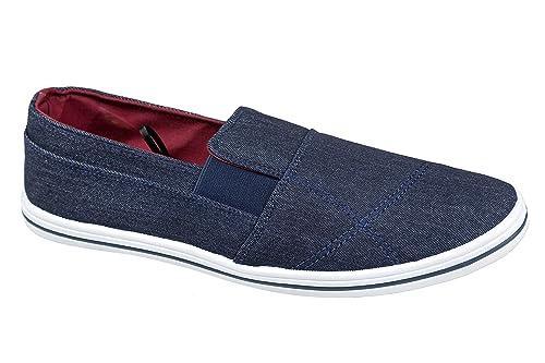 gibra - Mocasines de tela para hombre, color azul, talla 44: Amazon.es: Zapatos y complementos