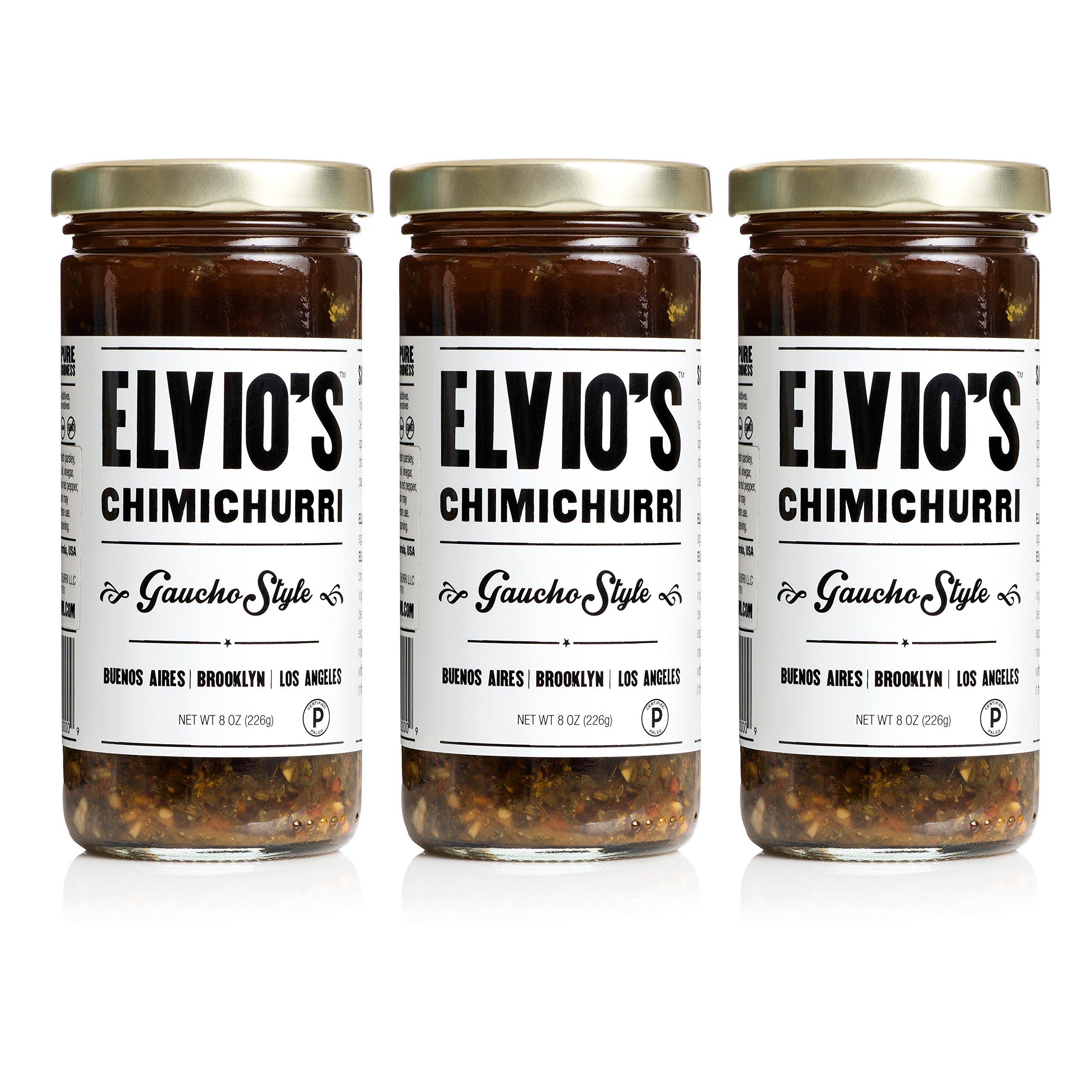 ELVIO'S CHIMICHURRI -Gaucho Style Chimichurri Sauce (8oz), Pack of 3