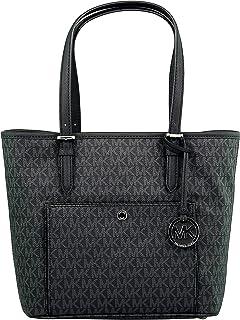 21507b698b0c Michael Kors Women's Large Jet Set Top Zip Snap Pocket Tote Bag Leather  Shoulder