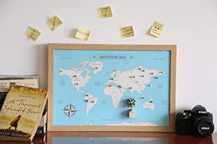 Oye happy adventure world map gift for friend husband wife oye happy adventure world map gift for friend husband wife girlfriend boyfriend on birthday gumiabroncs Choice Image